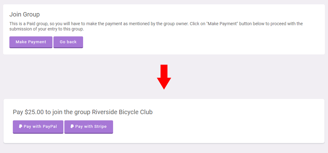 Groups Joining Fees & Payments System Plugin