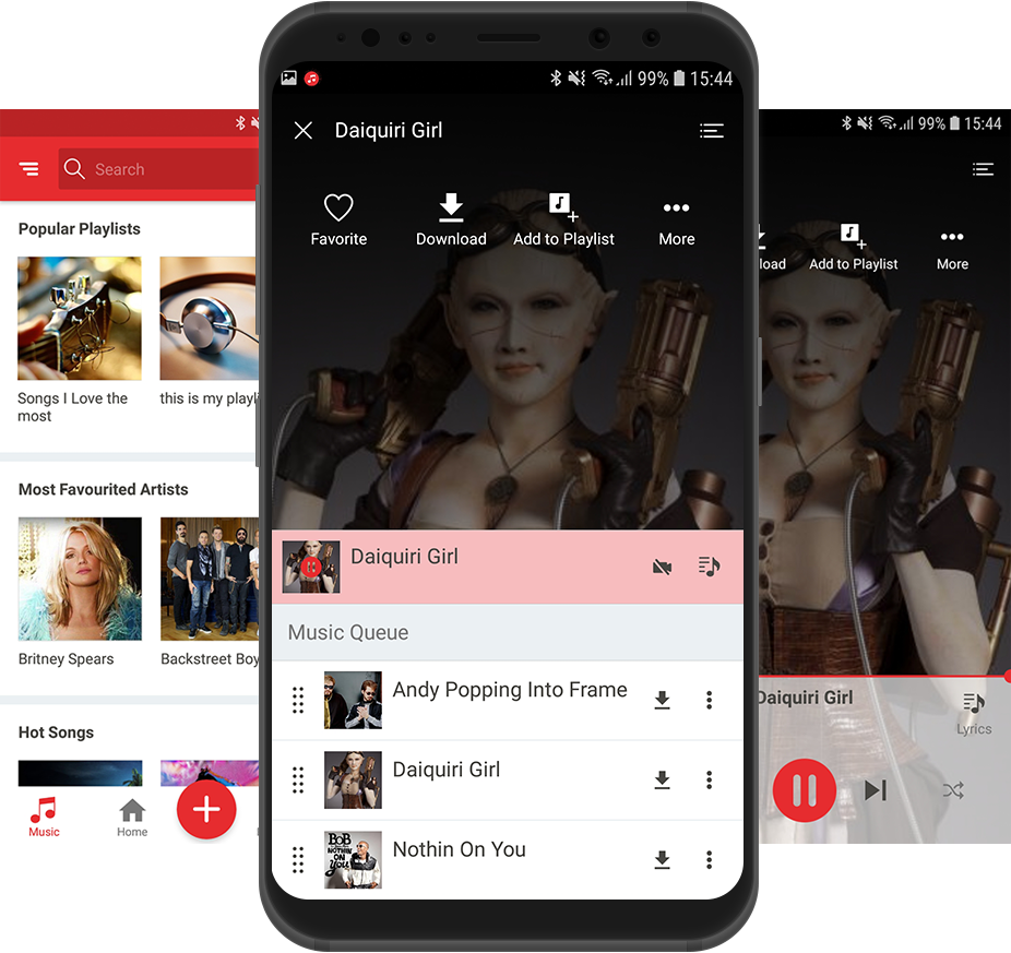 Custom Music for Android Mobile App Extension