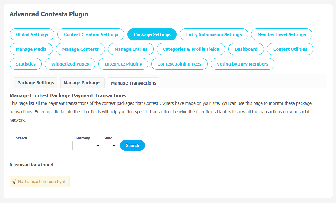 Advance Contests Plugin