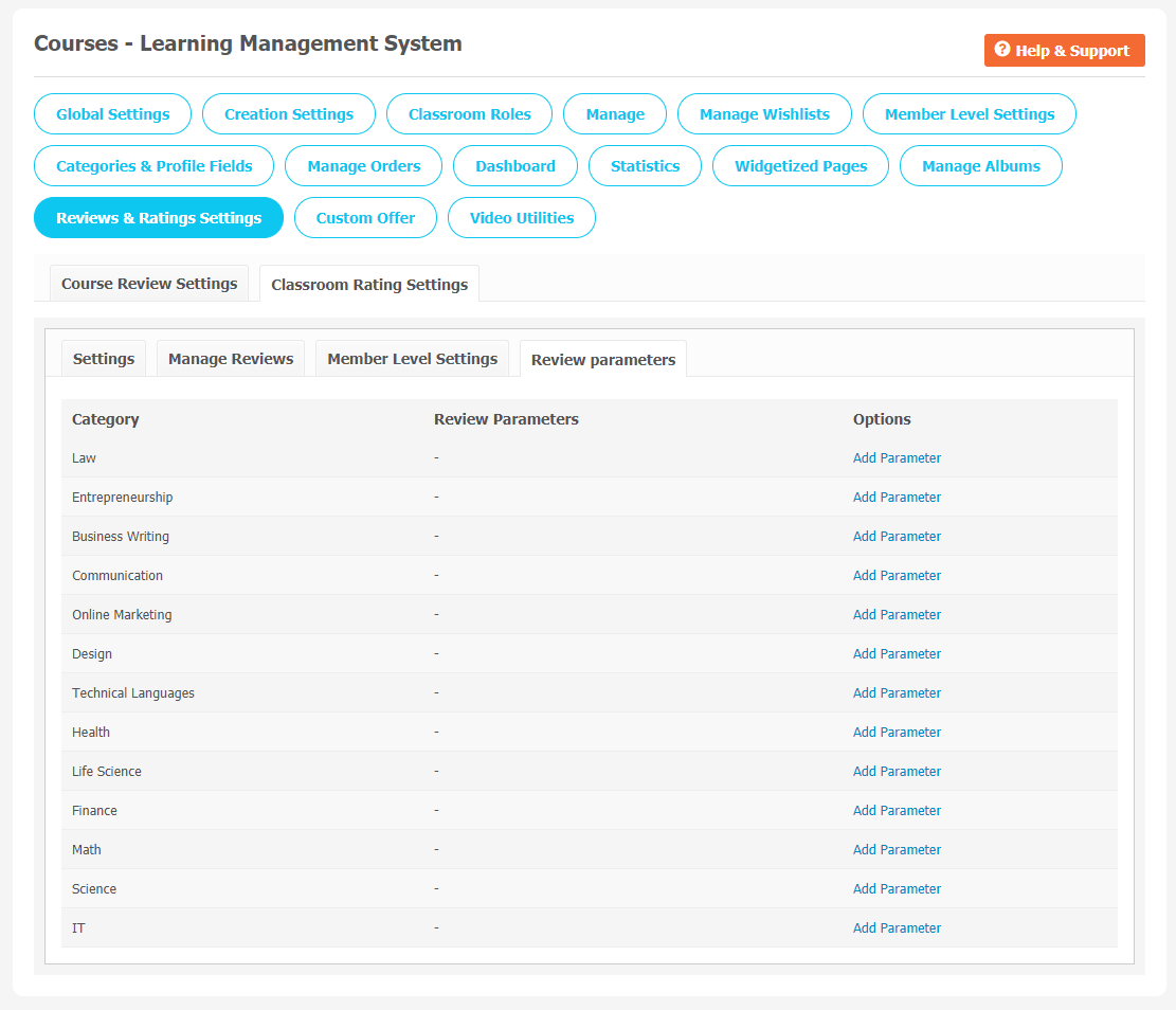 Courses: Learning Management System