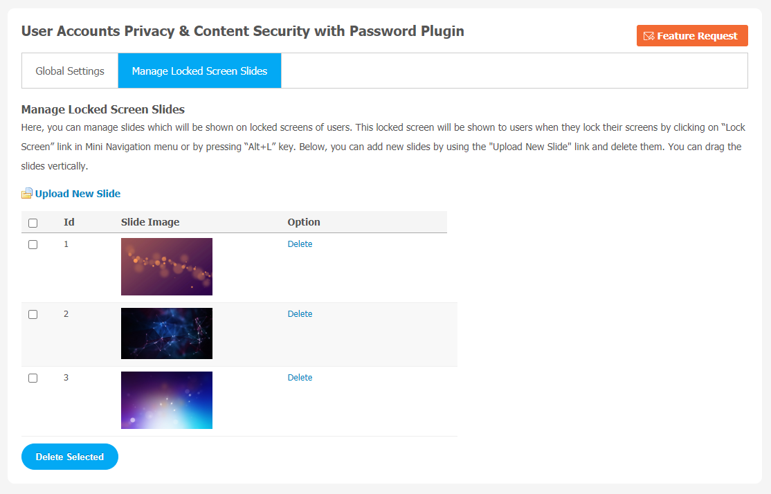 User Accounts Privacy & Content Security with Password Plugin