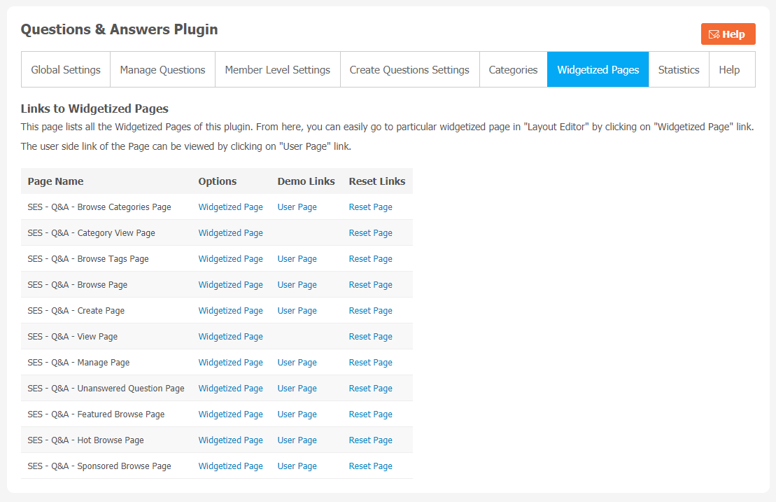 Questions & Answers Plugin