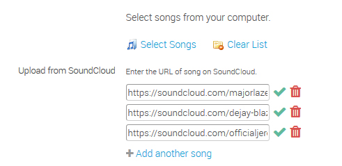 Integration with SoundCloud