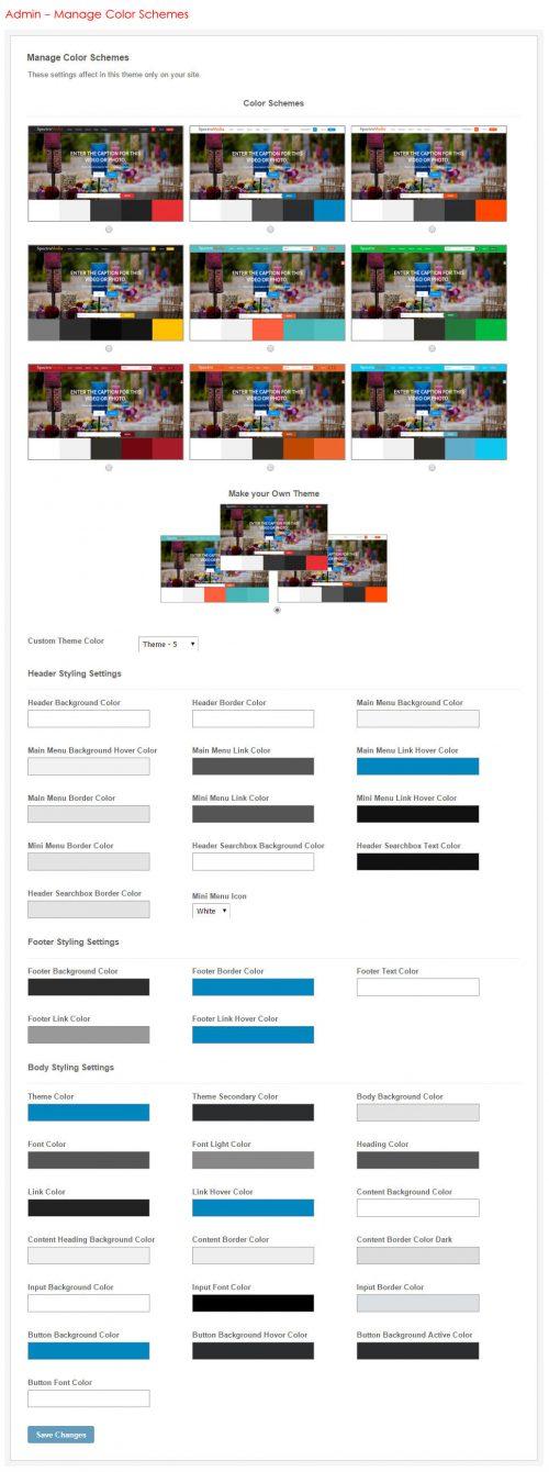 Manage Color Schemes