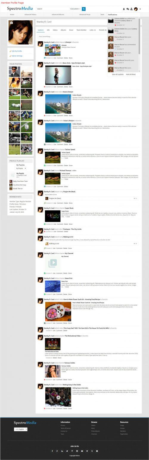 Member Profile Page