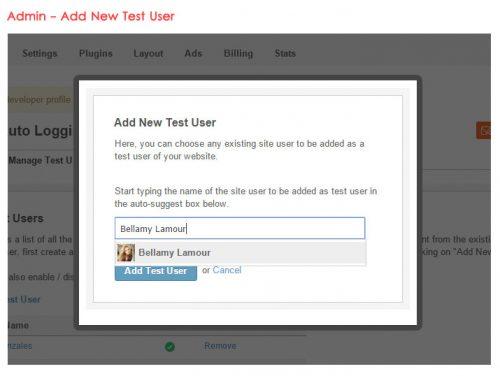 Admin - Add New Test User
