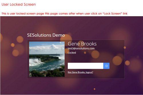 User Loked Screen
