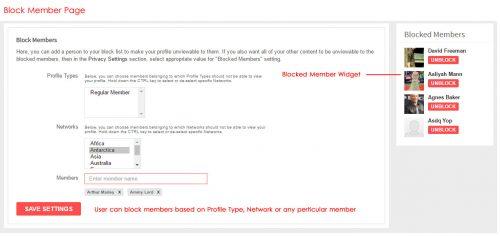 Block Members Page
