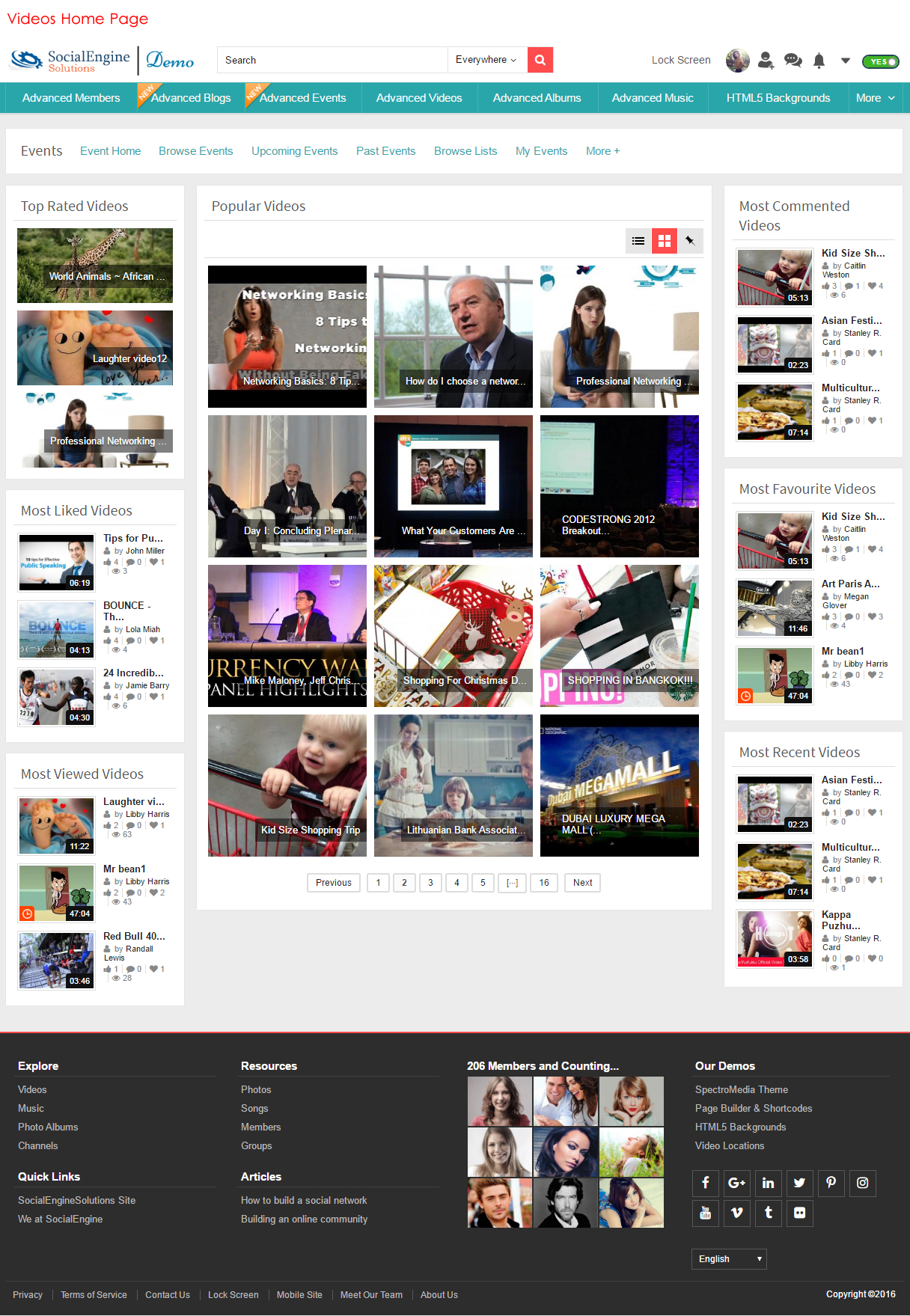Videos Home Page