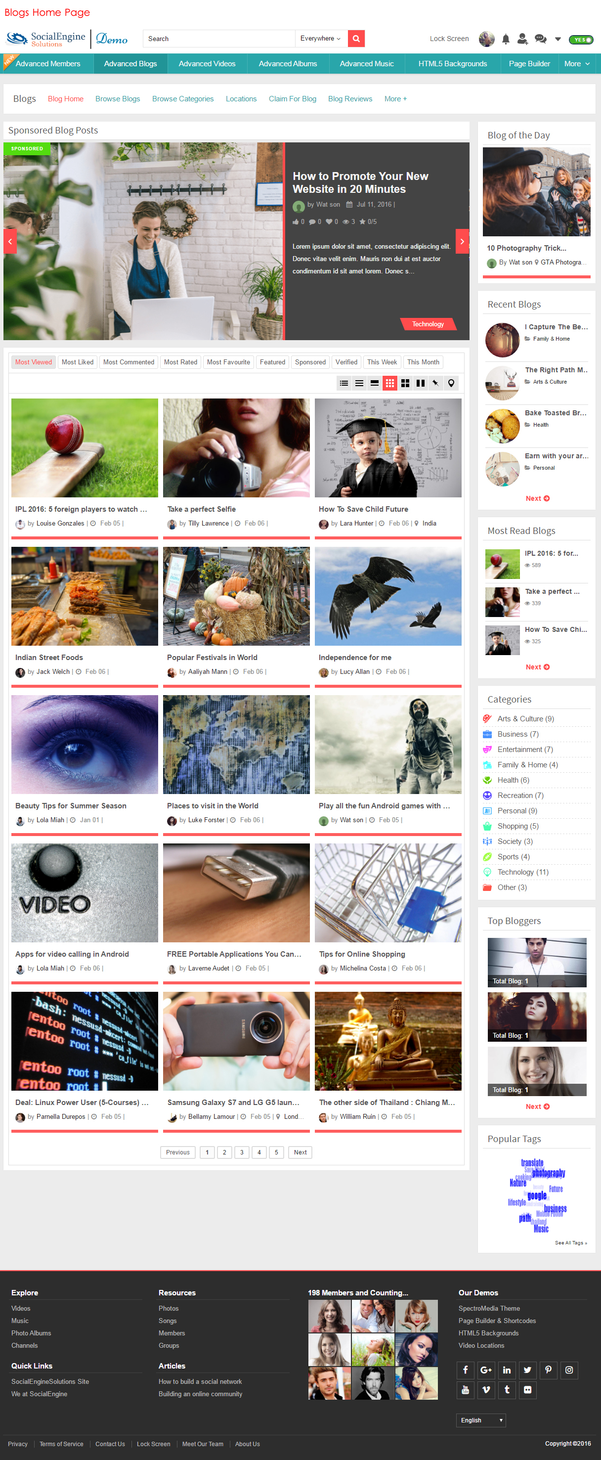 Blogs Home Page