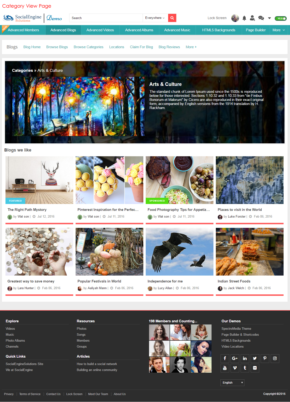 Category ViewPage