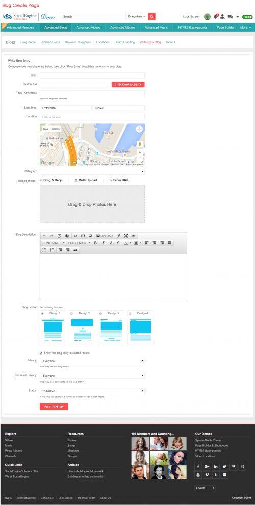 Blog Create Page