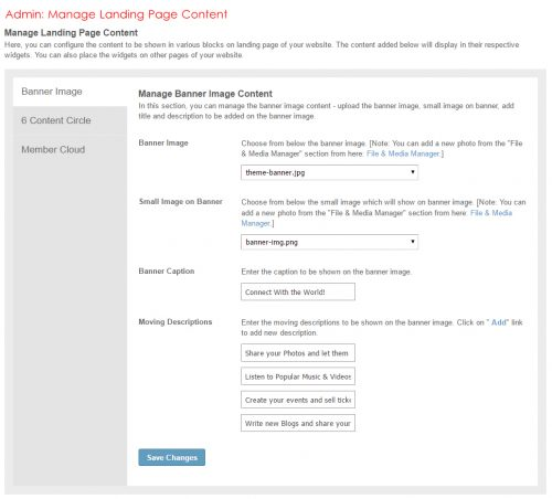Admin: Manage Landing Page Content