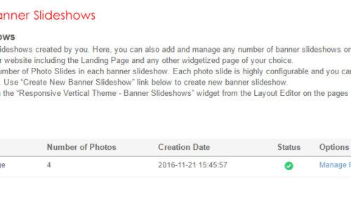 Admin: Manage Banner Slideshows