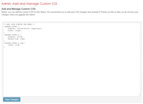Admin: Add and Manage Custom CSS