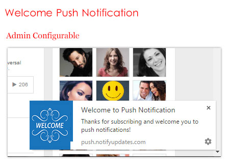 Welcome Push Notification