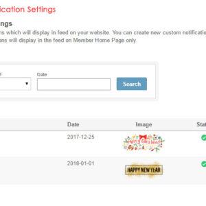 Admin: Custom Feed Notification Settings