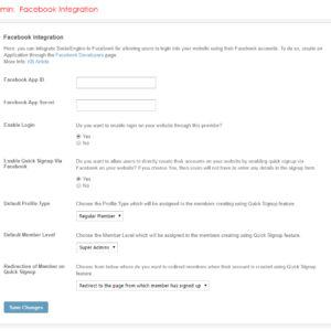Admin: Facebook Integration