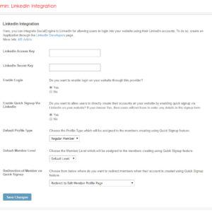 Admin: LinkedIn Integration