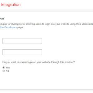 Admin: VKontakte (VK) Integration
