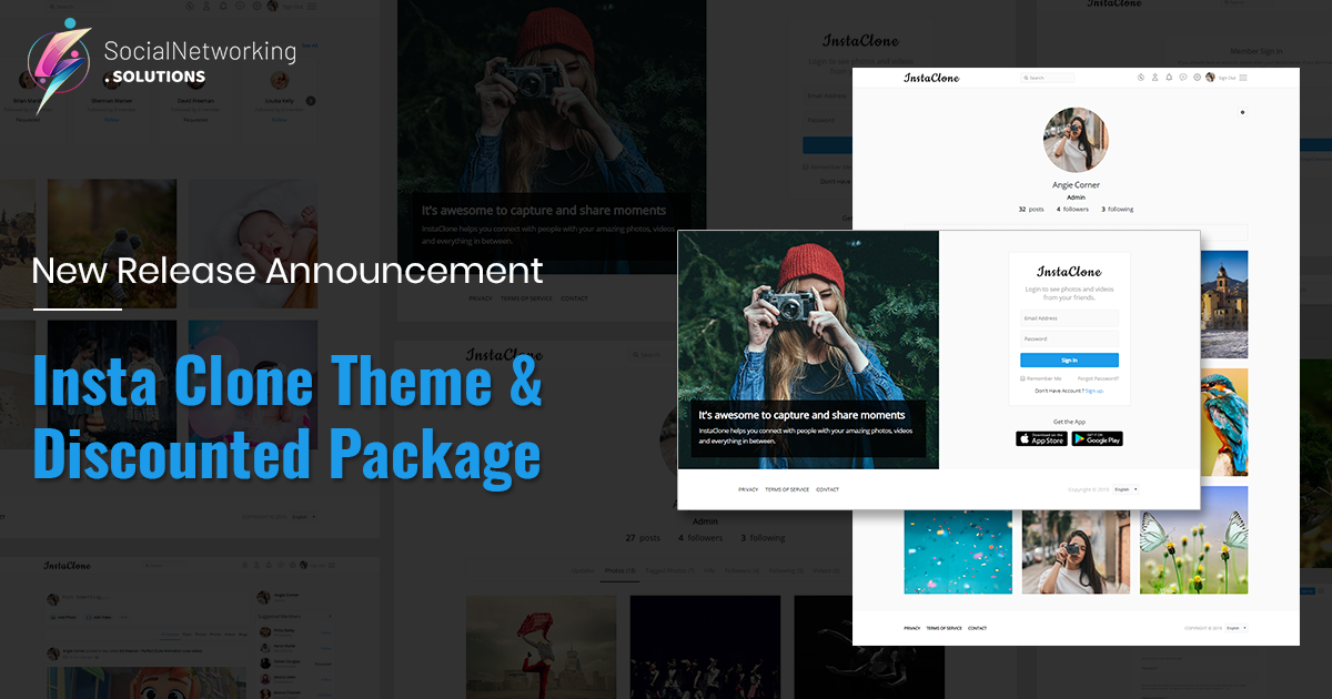 Insta Clone Theme & Discounted Package