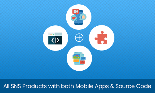 All SNS Products with both Mobile Apps & Source Code