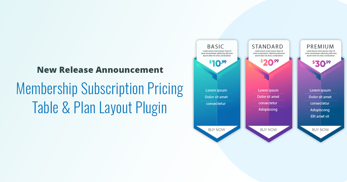 Membership Subscription Pricing Table & Plan Layout Plugin