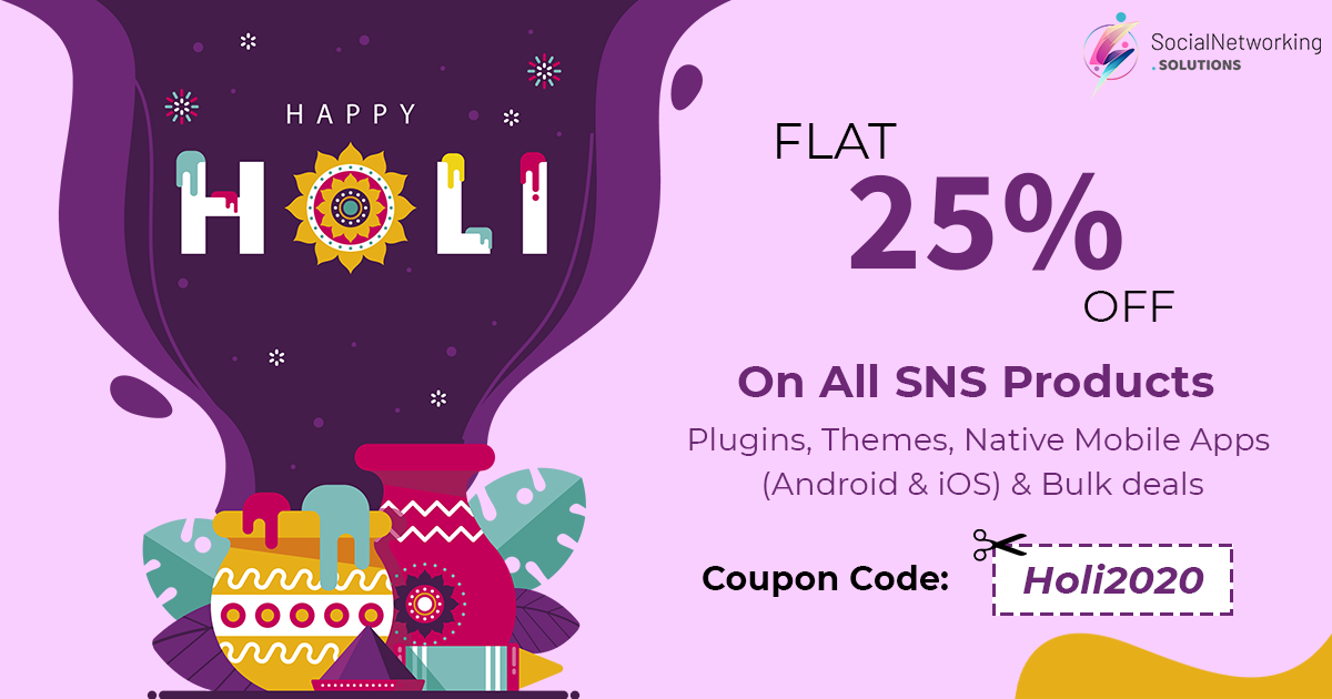 Celebrate this Holi Festival with Flat 25% Off on All SNS Products