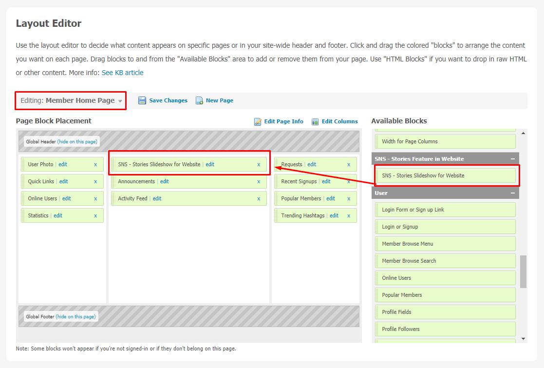 Stories Feature in Website Plugin