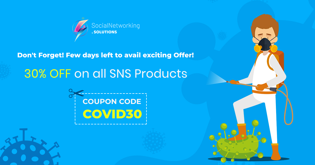 Few days left to avail flat 30% OFF on all SNS Products due to Covid Pandemic