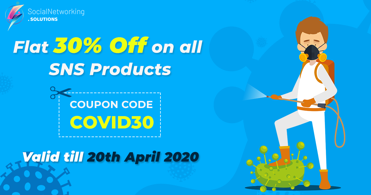 Flat 30% discount on all products due to COVID-19 Pandemic