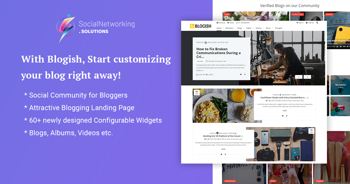 "New Demo Released – ""BLOGISH"" Social Community for Bloggers"