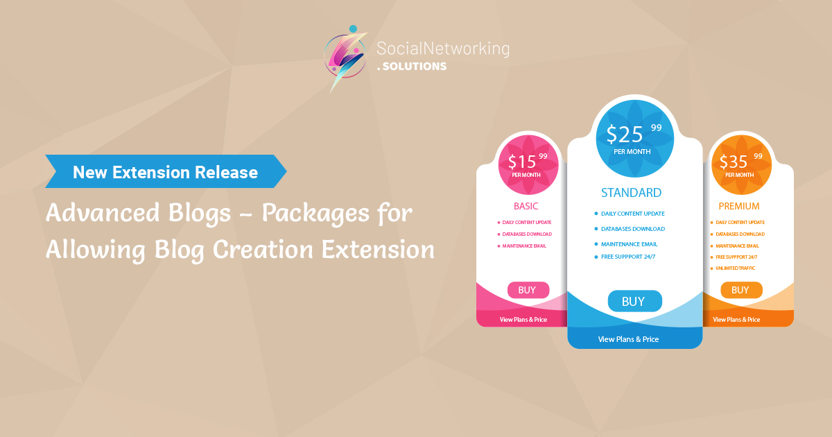New Extension Release - Advanced Blogs – Packages for Allowing Blog Creation Extension