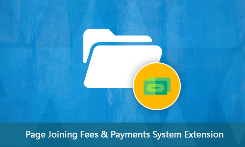 Page Joining Fees & Payments System Extension
