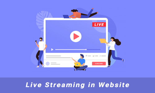 Live Streaming in Website