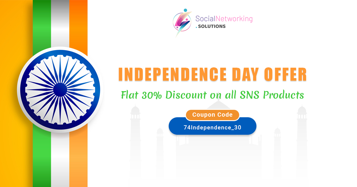 Celebrating 74th Independence Day with Flat 30% Discount on all SNS Products