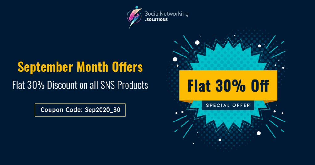 September Month Discounts – Flat 30% Discount on all SNS Products