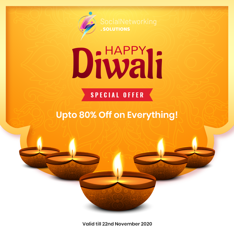 Celebrate Diwali with Bumper Sale - Get Upto 80% Off on Everything