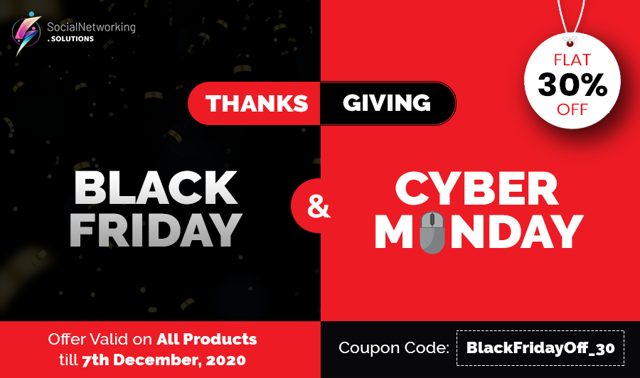 Thanksgiving, Black Friday & Cyber Monday Discounts – Enjoy Flat 30% Off on Everything!