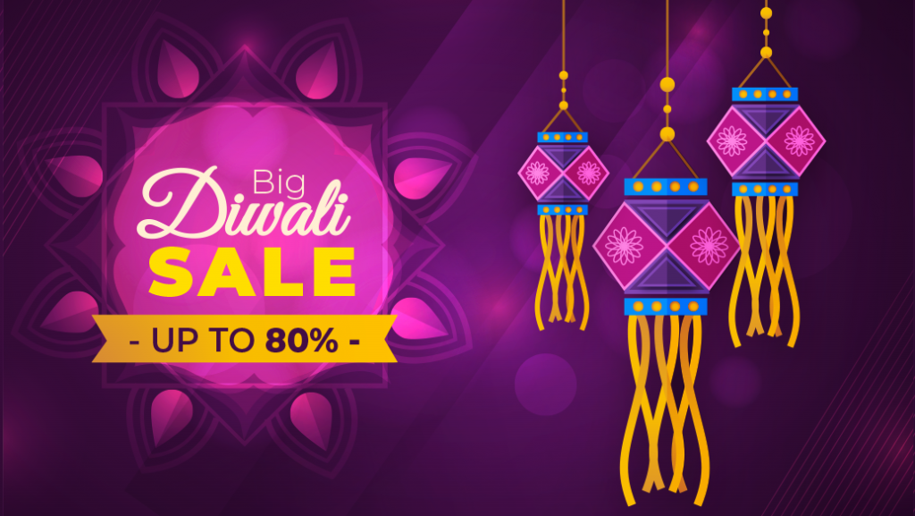 Celebrate Diwali with Bumper Sale - Get Upto 80% Off on Everything!