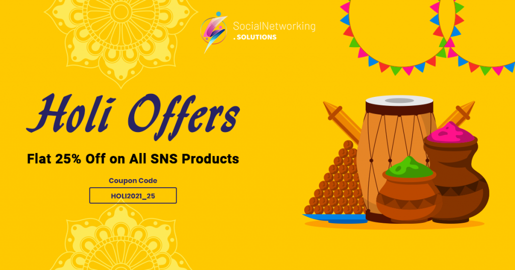 Holi 2021 Celebration with Flat 25% Off on All SNS Products