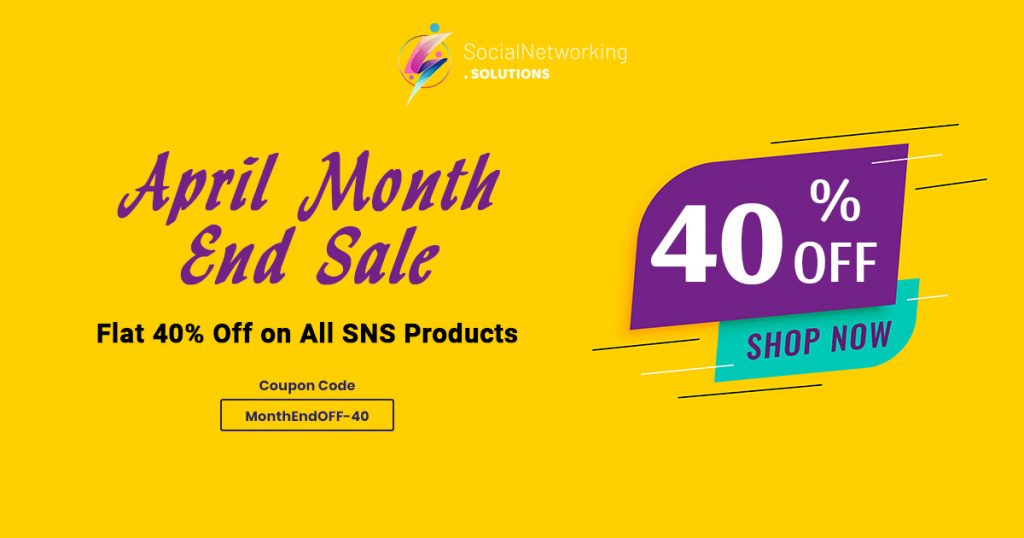 April Month End Sale – Flat 40% Off on All SNS Products
