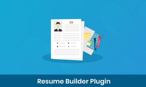 Resume Builder Plugin