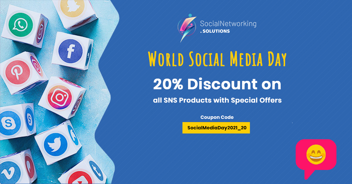 World Social Media Day Celebration – 20% Discount on all SNS Products with Special Offers
