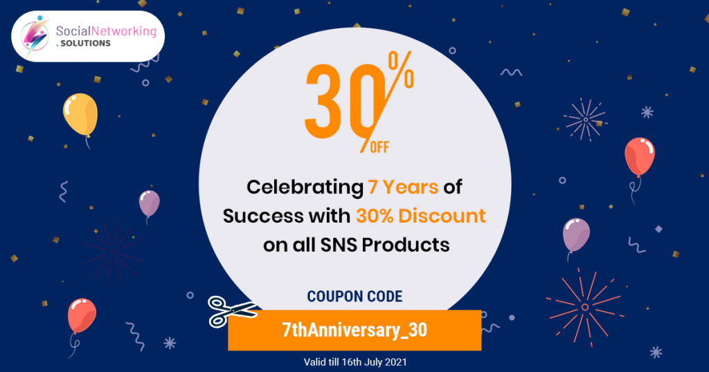Celebrating 7th Anniversary with Flat 30% off on all SNS Products