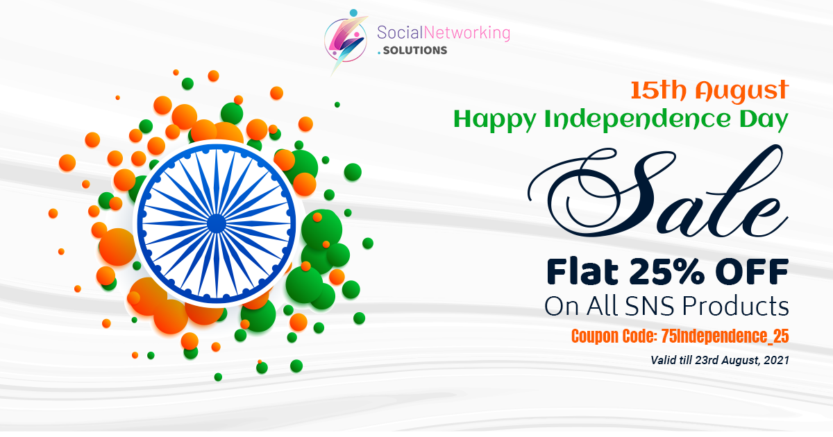 Celebrating 75th Independence Day & Raksha Bandhan with Flat 25% Off on All SNS Products